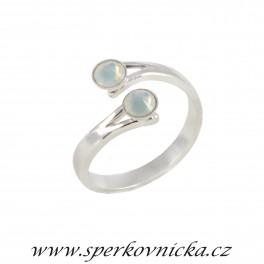Prsten XILION ROSE 2xSS20 se SWAROVSKI ELEMENTS, white opal