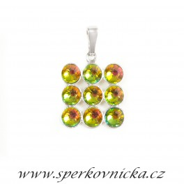 Přívěšek XILION ROSE 9xSS20 se SWAROVKI ELEMENTS, crystal vitrail medium