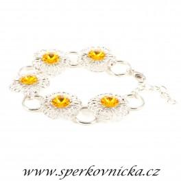 Náramek RIVOLI 5x8 se SWAROVSKI ELEMENTS, sunflower