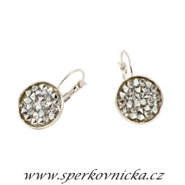 Náušnice CRYSTAL ROCKS 15mm se SWAROVSKI ELEMENTS, crystal comet argent light