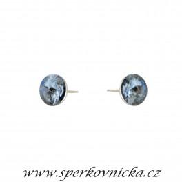 Náušnice RIVOLI 8mm se SWAROVSKI ELEMENTS, crystal blue shade